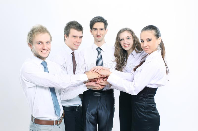 Closeup .a successful and professional business team stock photography
