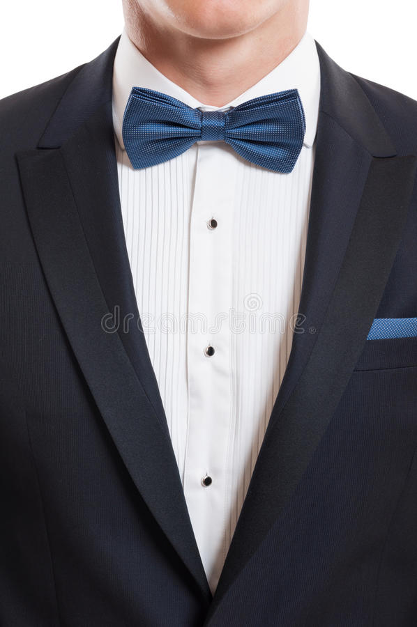 Suit and bow tie illustration