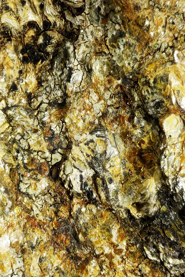 Closeup of surface of mineral stock photos