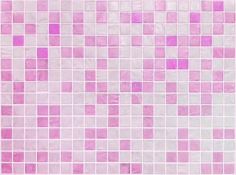 Download Closeup Surface Tiles Pattern At Pink In Bathroom Wall Texture Background Stock Image