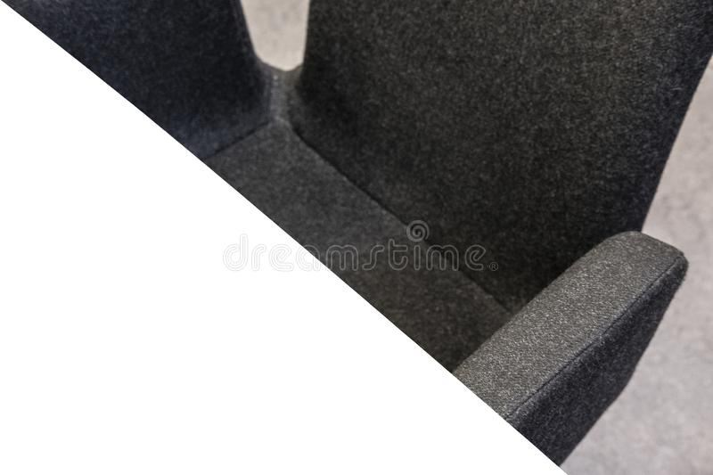 Closeup of a table and chair stock photography