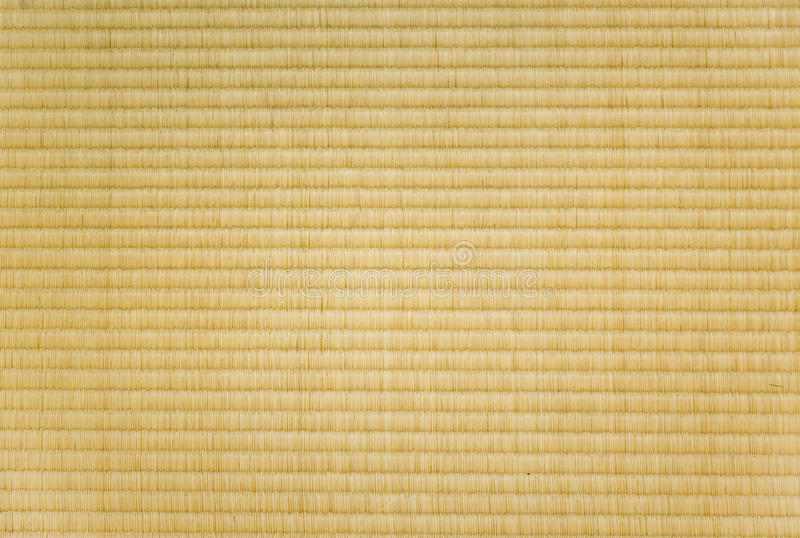 Closeup of a tatami mat. As used in japan royalty free stock photography