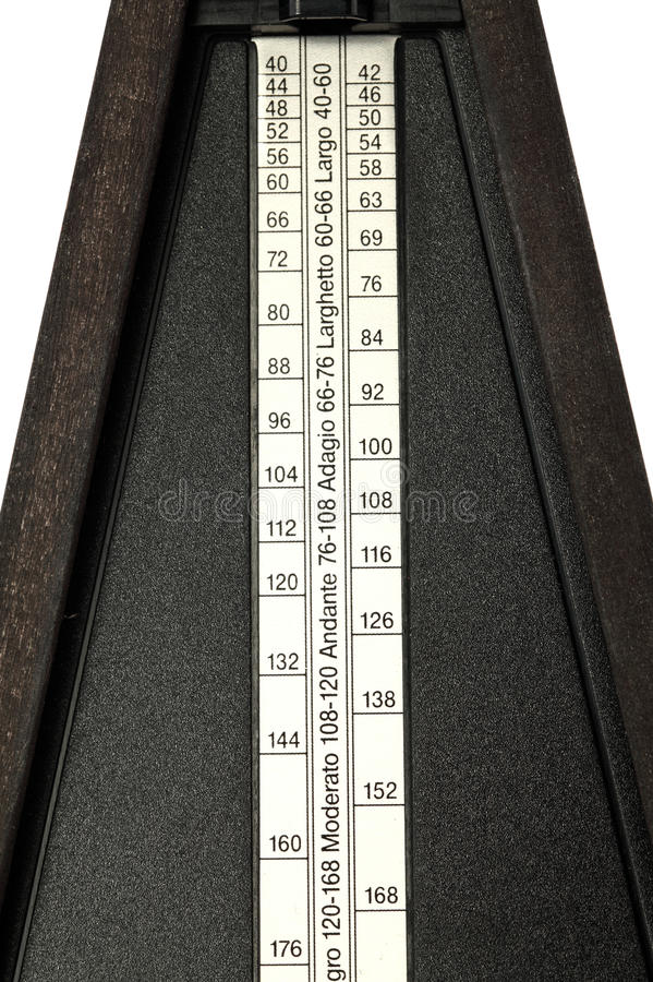 Download Closeup Of Tempo Settings On Metronome Stock Photo - Image: 12565934
