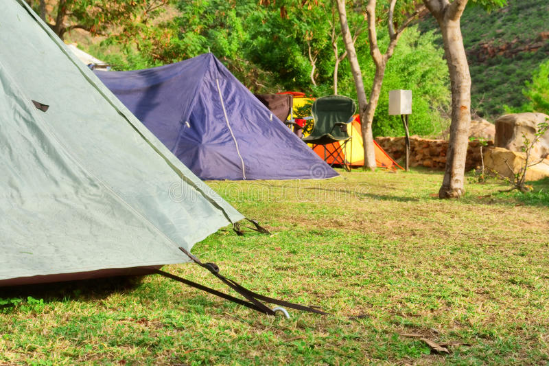 Closeup of a tent royalty free stock photography