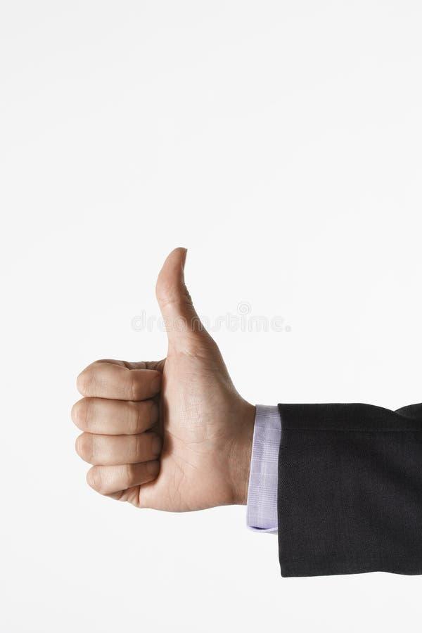 Closeup of Thumbs Up Sign stock image