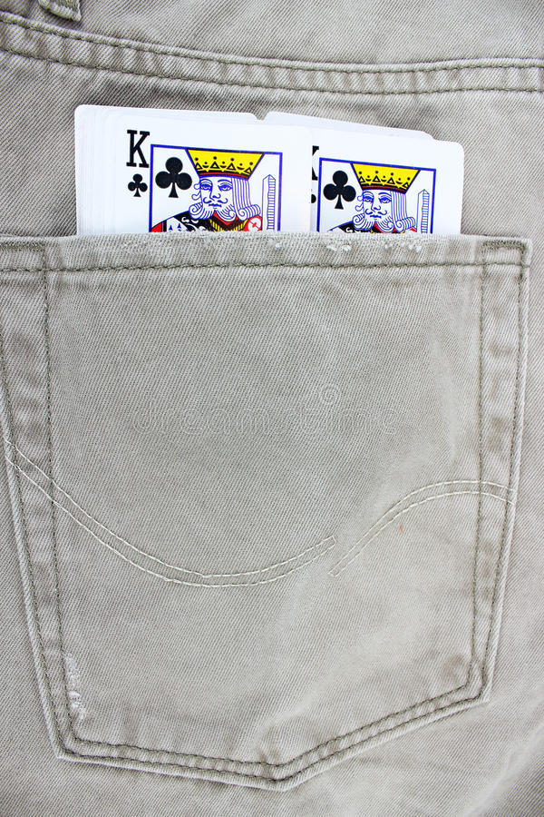 Download Closeup To Jeans Pocket With Game Cards Stock Image - Image: 30949279