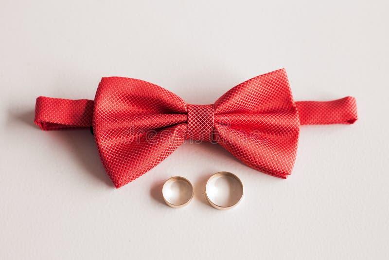 Elegant stylish red male bowtie stock photos