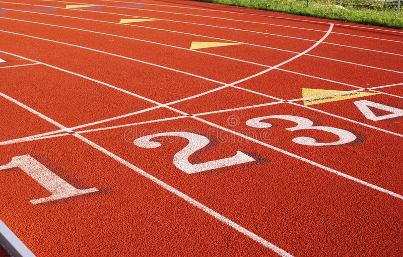 Closeup on track stock photos