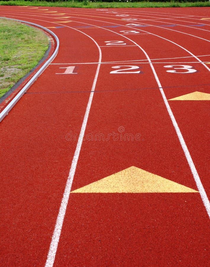 Closeup on track stock image