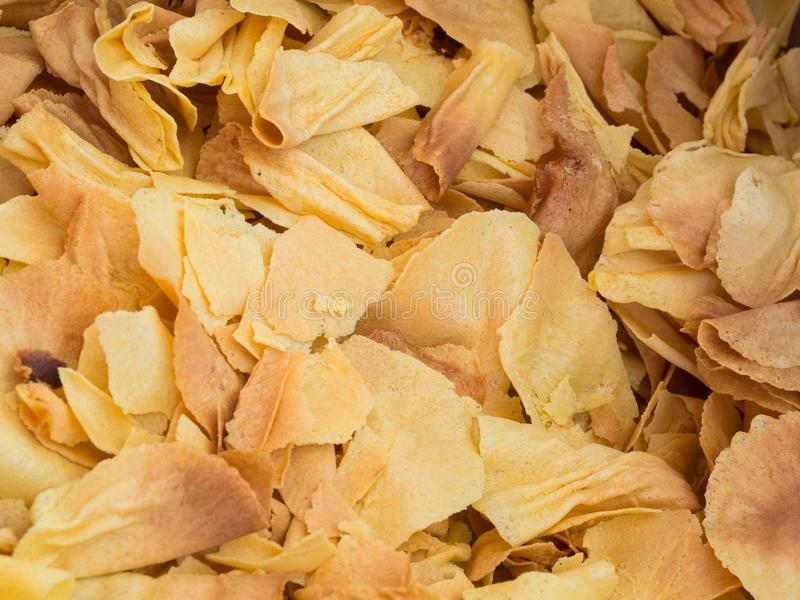 Closeup of traditional Brigidini from Lamporecchio: crispy, thi. N anise flavored wafers royalty free stock photography