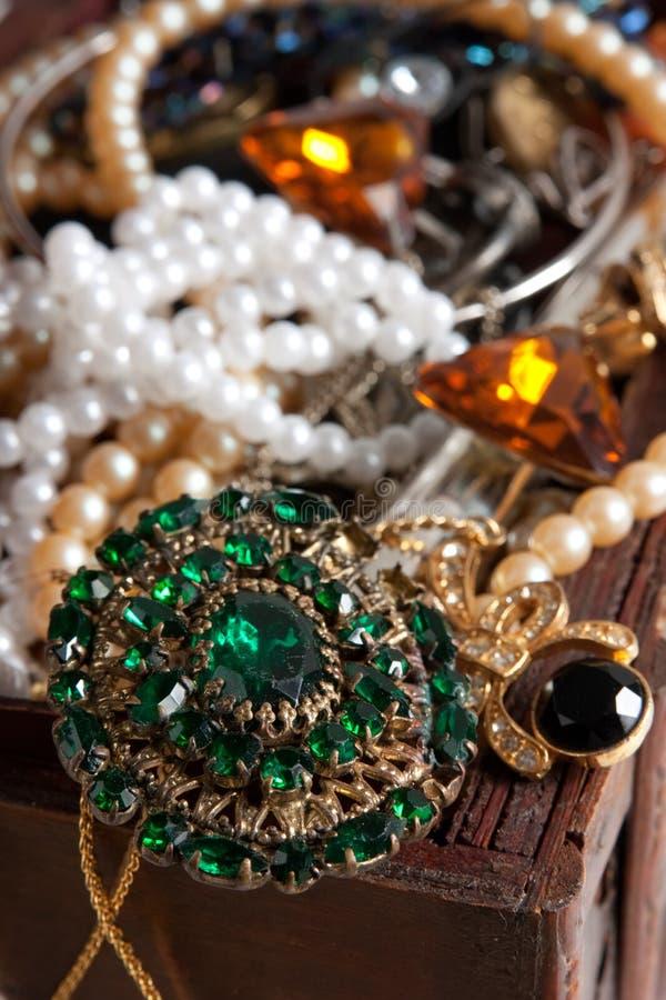 Closeup of Treasure chest royalty free stock image