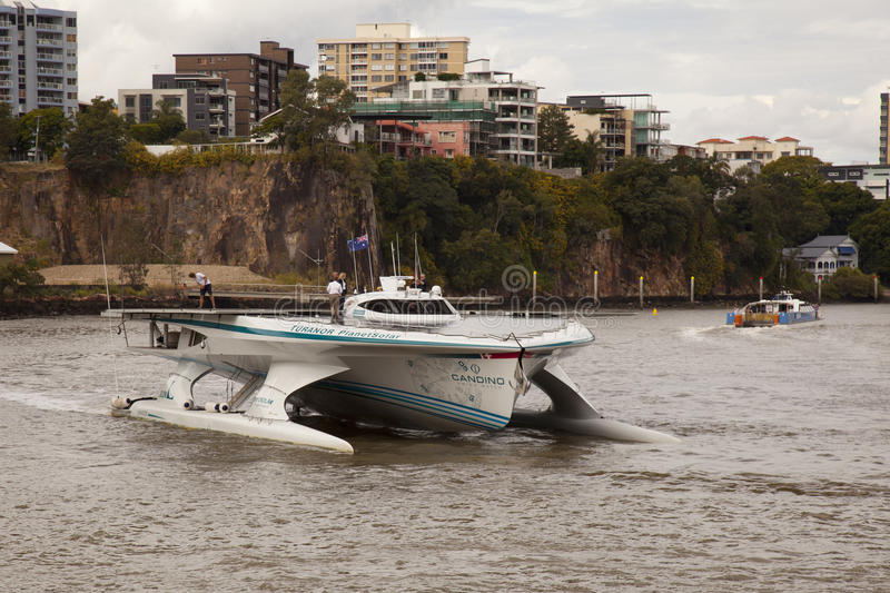 Download Closeup Turanor Arriving Into Brisbane River Editorial Stock Image - Image: 19689004