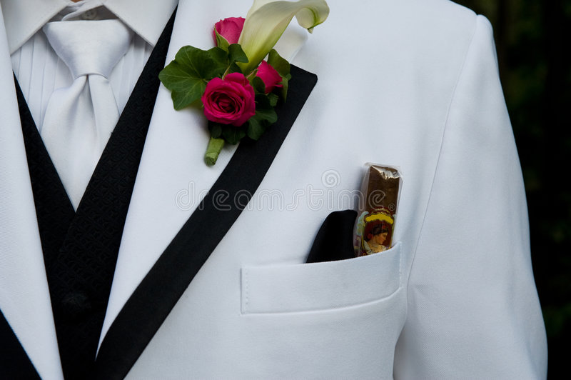 Closeup of a tuxedo stock images