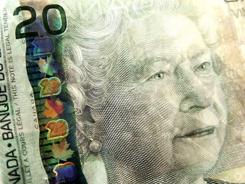 Closeup of Twenty Dollar Bill royalty free stock photography