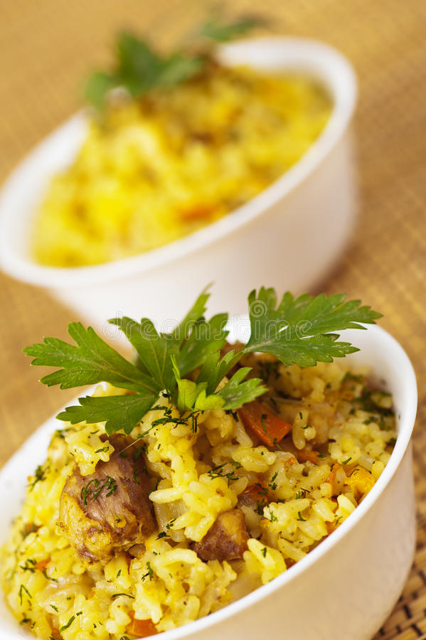 Download Closeup Two Portion Yummy Pilaf Stock Photos - Image: 21933923
