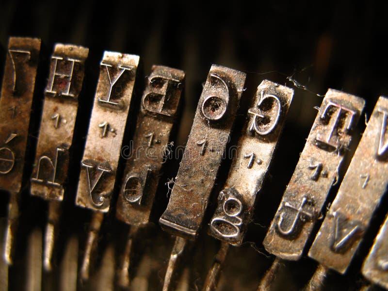 Closeup of a typewriter stock images