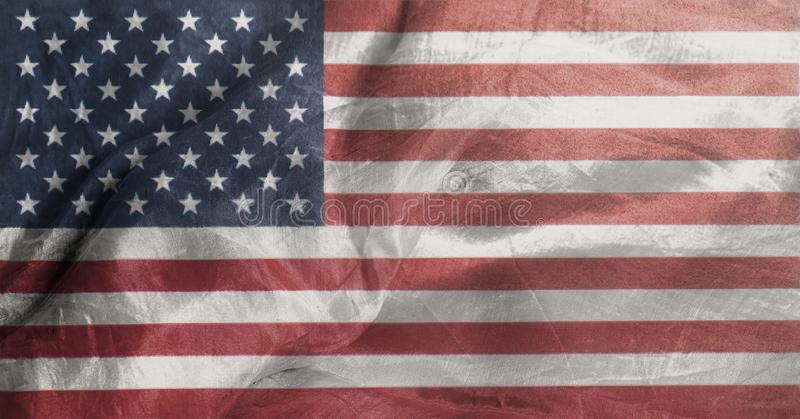 Closeup of United States of America Rippled Waving Flag royalty free stock photography