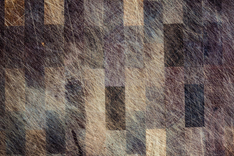 Closeup of used weathered and grungy wooden surface with scratch royalty free stock image