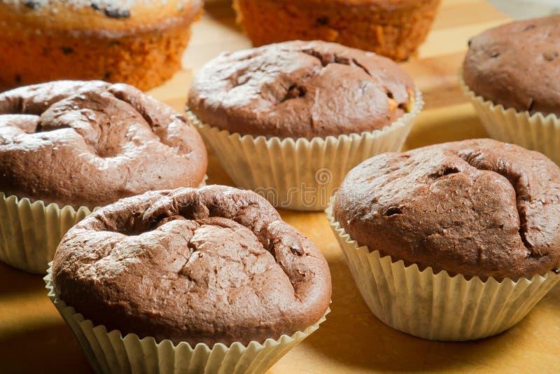Closeup various muffin stock photography
