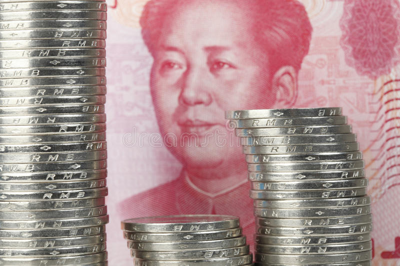 Chinese currency. Closeup view of Chinese curreny stock photos
