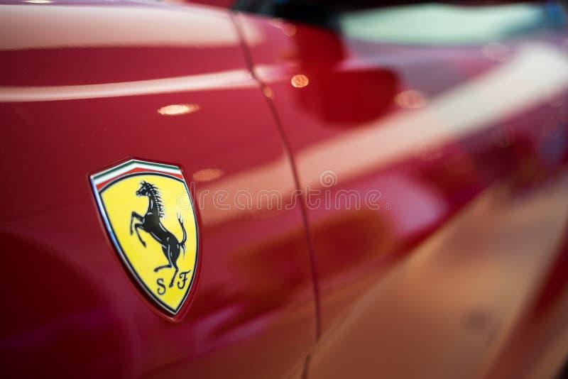 Ferrari Logo Red royalty free stock photos