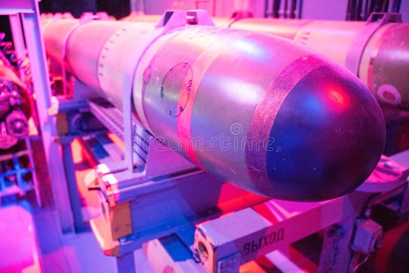 Nuclear Submarine Torpoedo Closeup stock photos