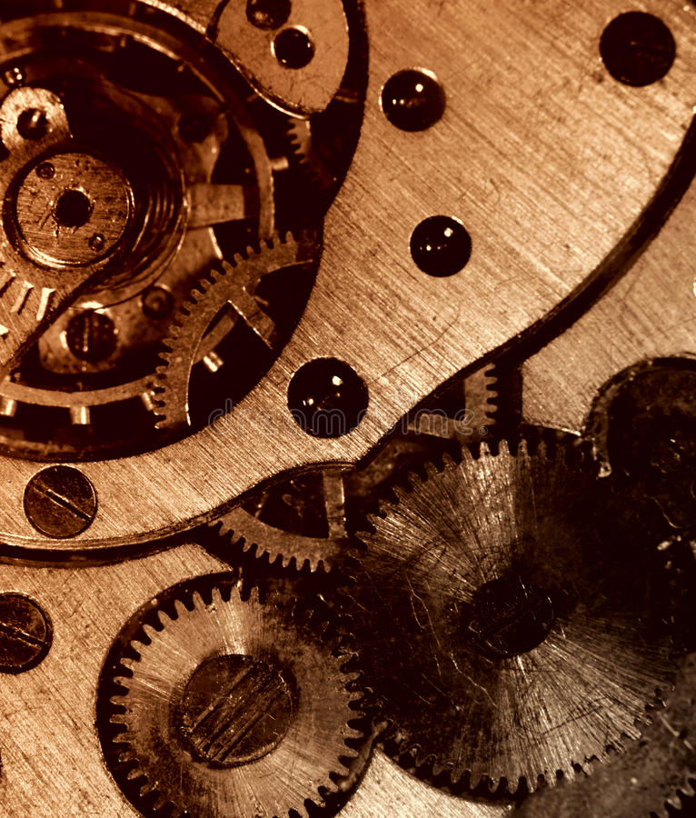 Download Closeup View Of The Old Mechanism. Stock Image - Image: 11914545