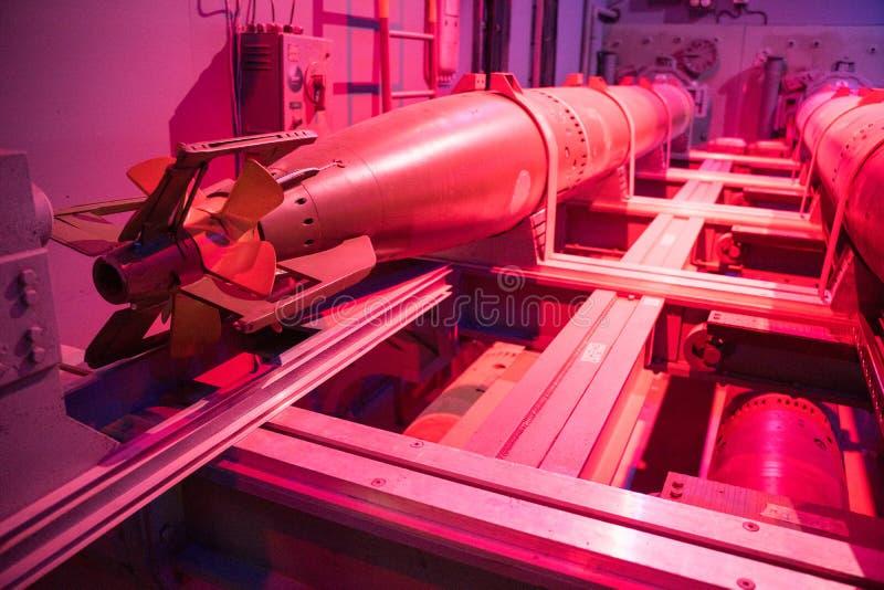 Nuclear Submarine Torpoedos Rear Closeup royalty free stock photos