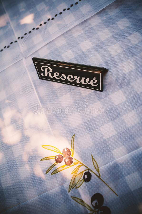 Reserved Restaurant Table royalty free stock photos