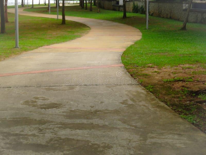 Closeup view of walking path at Ayer 8 Putrajaya Malaysia. Outdoor and active life concept royalty free stock photo