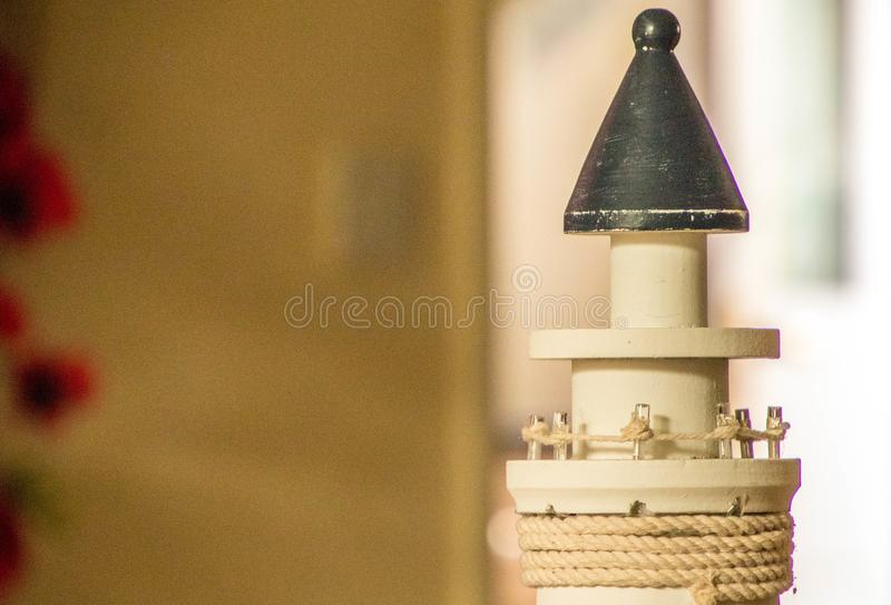 Wooden Lighthouse stock image
