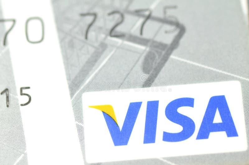 Closeup of VISA credit card