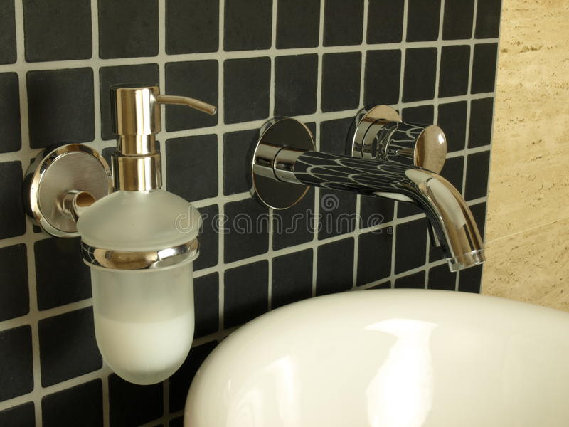 Closeup Of Wall Mounted Tap Stock Photography