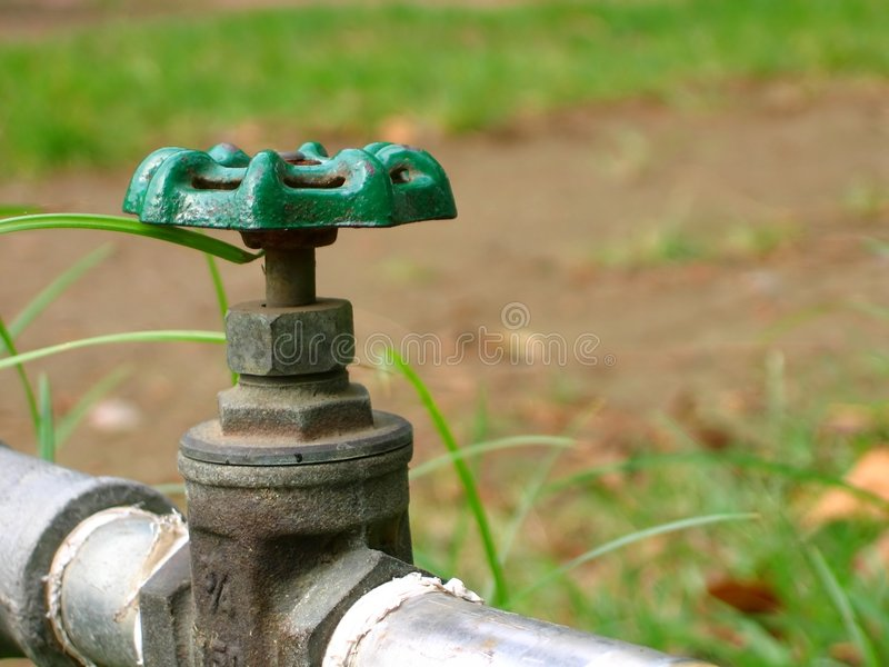 Closeup of a Water Faucet royalty free stock image