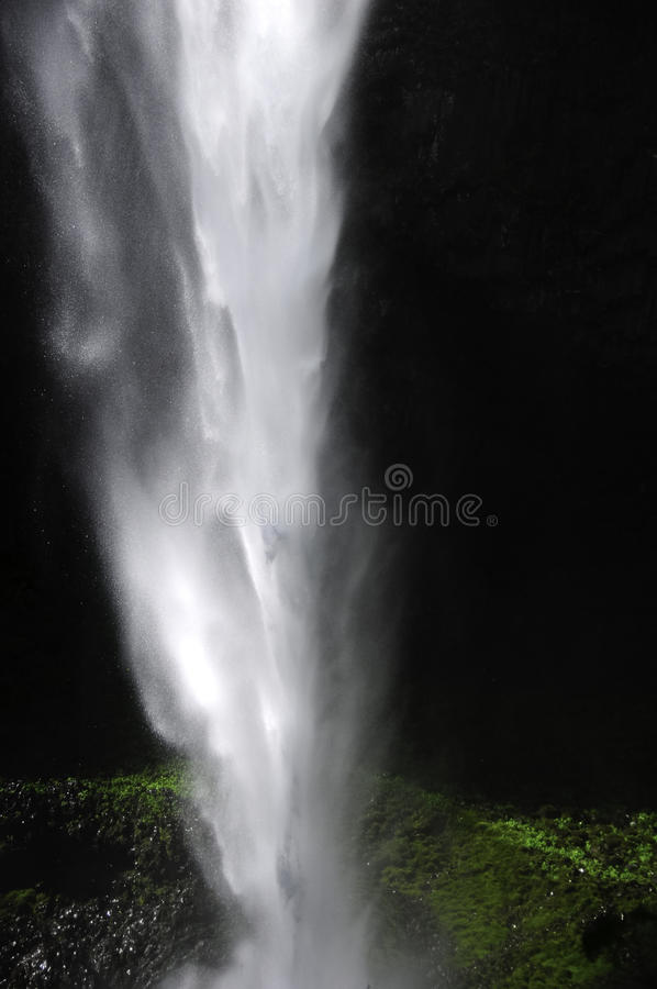 Closeup Of A Waterfall stock images