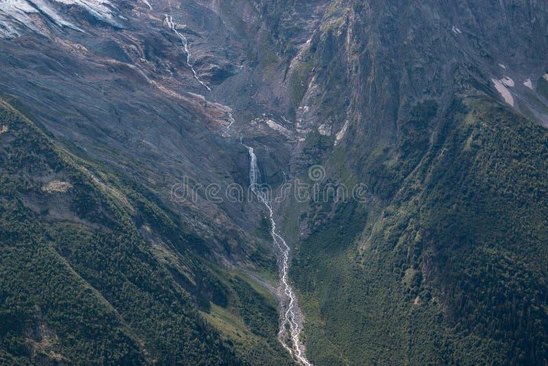 Closeup waterfall scenes in mountains, national park Dombai, Caucasus, Russia. Closeup view waterfall scenes in mountains, national park Dombai, Caucasus, Russia stock photo