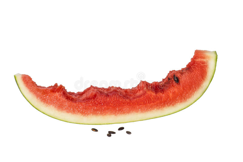 Closeup of watermelon slice stock photo
