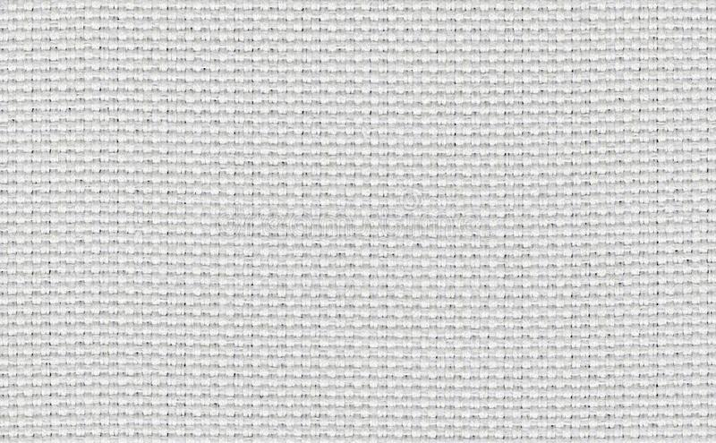 Closeup white,beige,light grey color fabric sample texture backdrop.White fabric strip line pattern design,upholstery for decorati royalty free stock photography