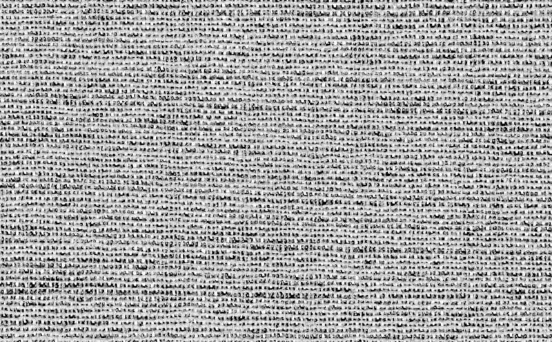 Closeup white with black or light grey color fabric sample texture backdrop. Dark grey fabric strip line pattern design,upholstery. For decoration interior royalty free stock photo