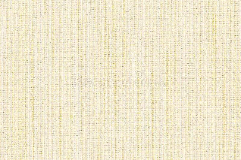 Closeup white or light yellow,brown colors fabric sample texture.Light yellow strip line fabric pattern design or upholstery abstr. Act background.Fabric yellow stock photo