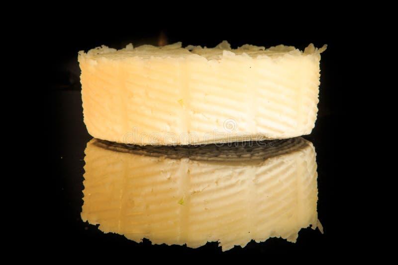 closeup whole round head of handmade white cheese royalty free stock photo