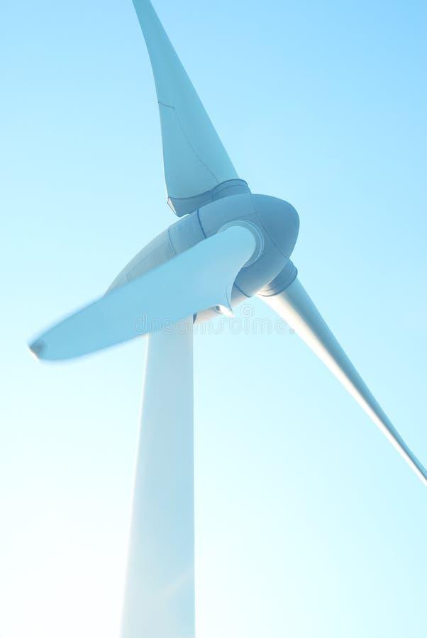 Free Closeup Wind Turbines, Wind Power Blue Sky Background Royalty Free Stock Photos - 163452598