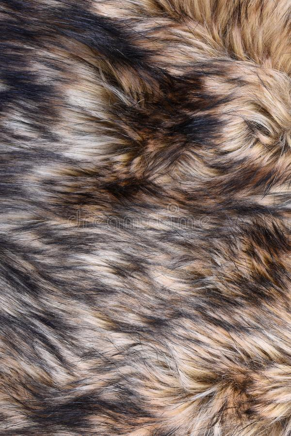 Wolf faux fur texture royalty free stock photo