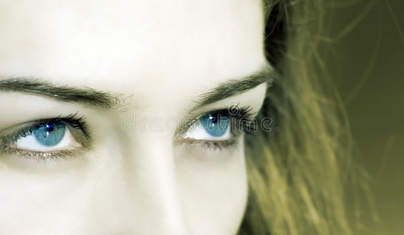 Download Closeup On Woman With Blue Eyes Royalty Free Stock Photos - Image: 4358108