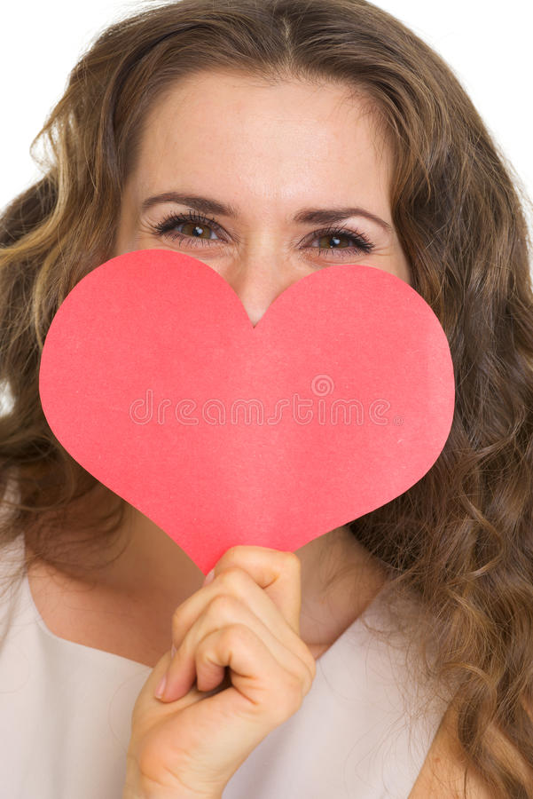 Download Closeup On Woman Hiding Valentines Day Cards Stock Image - Image: 29264895