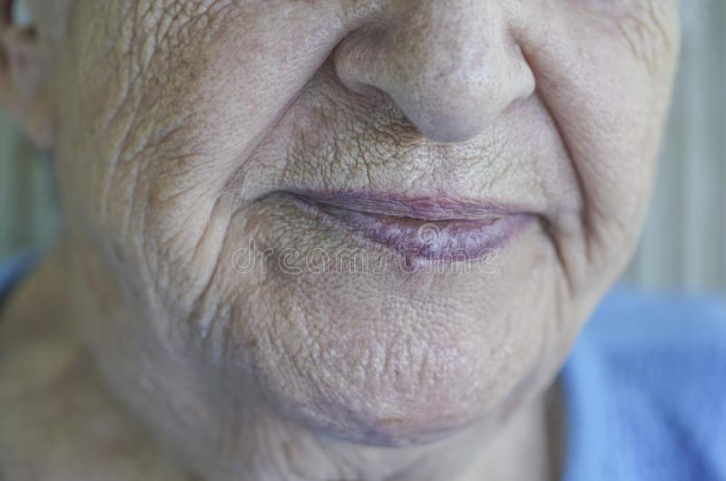 Download Closeup Face Of A Senior Person Stock Image - Image of maturity, aged: 102152861