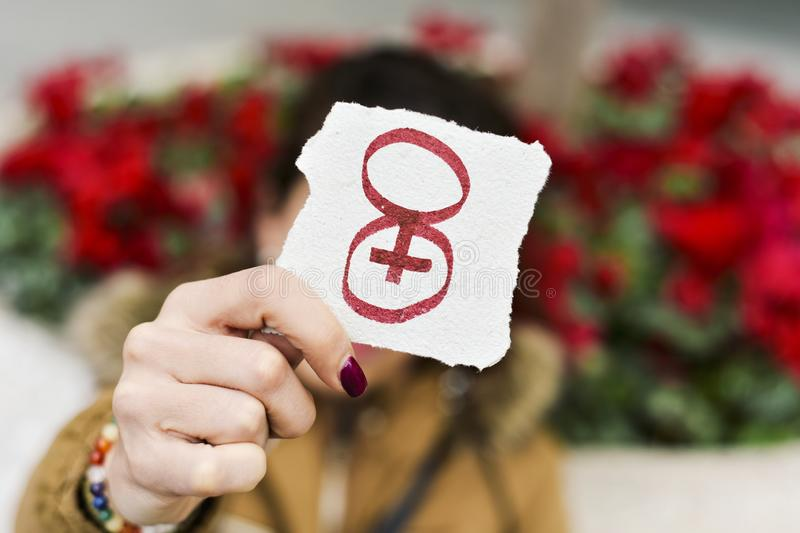 Number 8, for march 8, the womens day stock photography