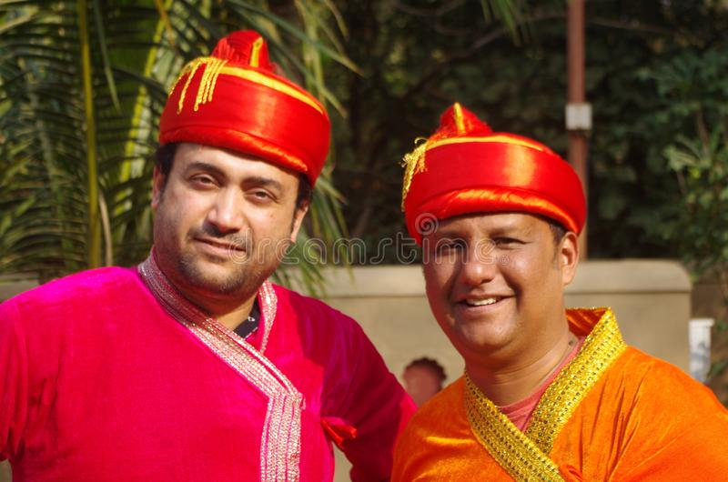 Young Indian Men in traditional dress-2 royalty free stock photography