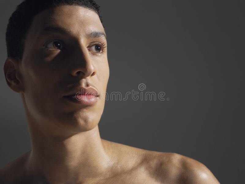 Closeup Of Young Male Athlete royalty free stock image