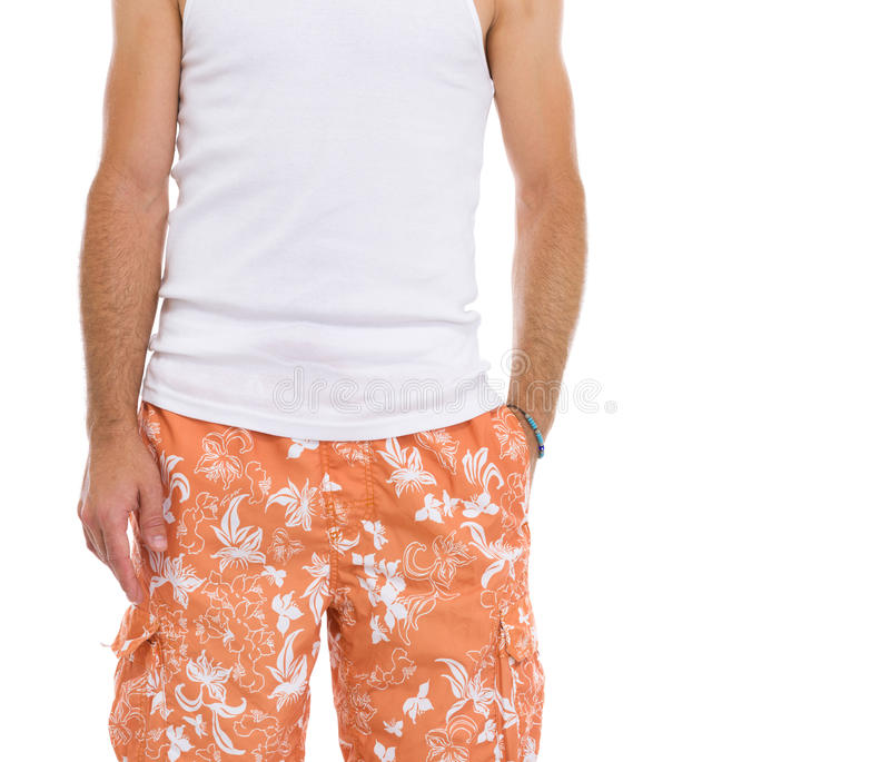 Download Closeup On Young Man In Shorts Stock Image - Image: 28984975